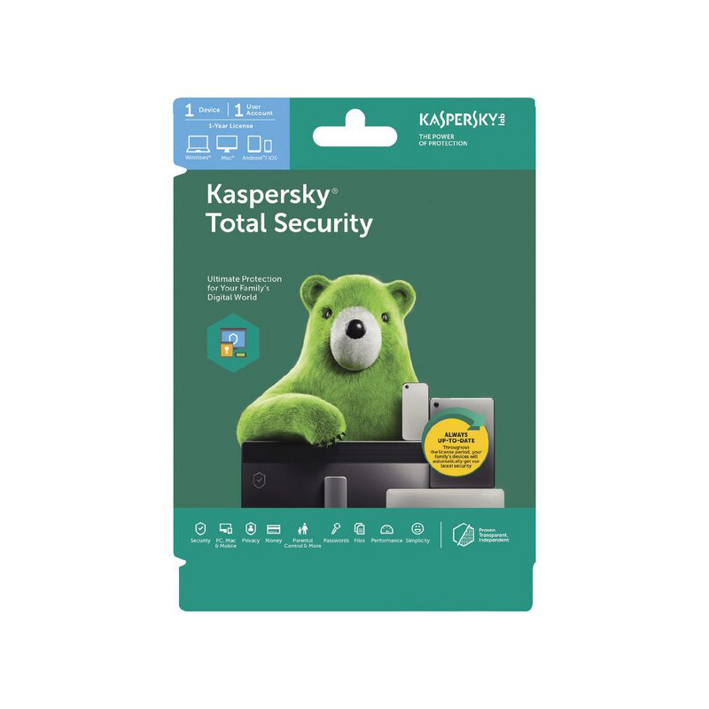 Kaspersky Total Security 2020 1 Device 1 Yr Email Key