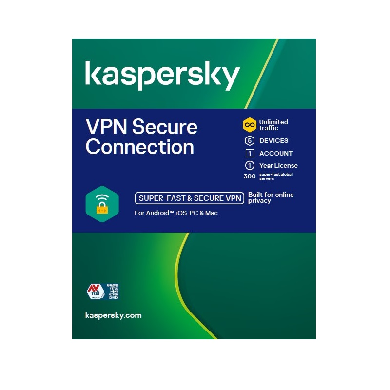 Kaspersky VPN Secure Connection 5 Devices 1 year
