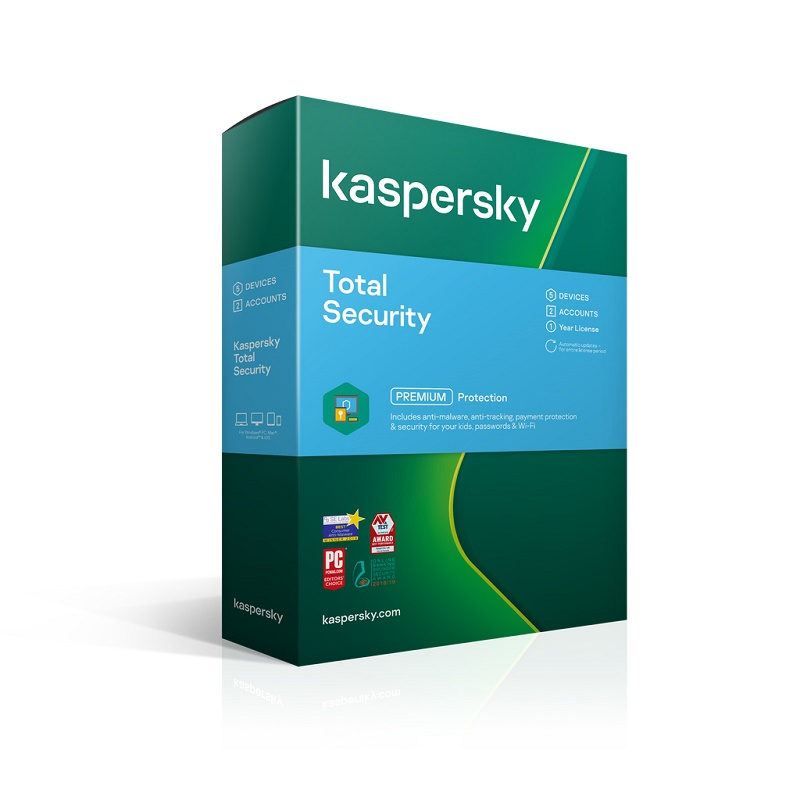 KL1949ECEFS Kaspersky Total Security 5 Device 1 Yr 2 Account