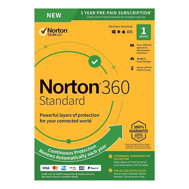 Norton 360 Standard 1 Device 1 Year Email Key
