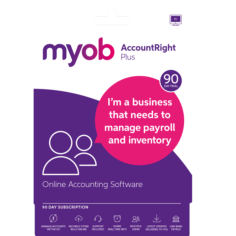 Myob AccountRight Plus Test Drive 90 Days Email