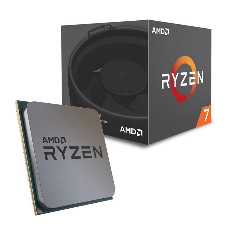 AMD Ryzen 7 2700 CPU YD2700BBAFBOX AM4 Wraith Spire LED