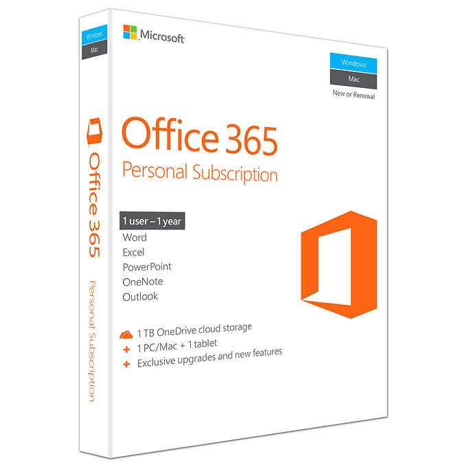 * KEY ONLY EMAIL *  Office 365 Personal 32/64  (1YR SUB)