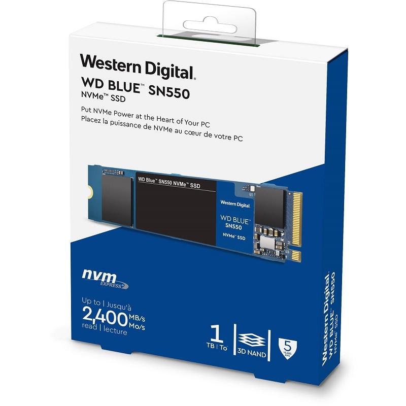 Western Digital WDS100T2B0C 1TB M.2 Blue SN550 NVME SSD