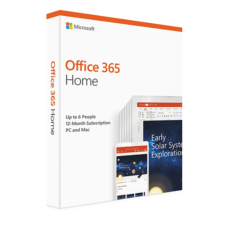 Microsoft Office 365 Home 6 Users 1yr subscription key