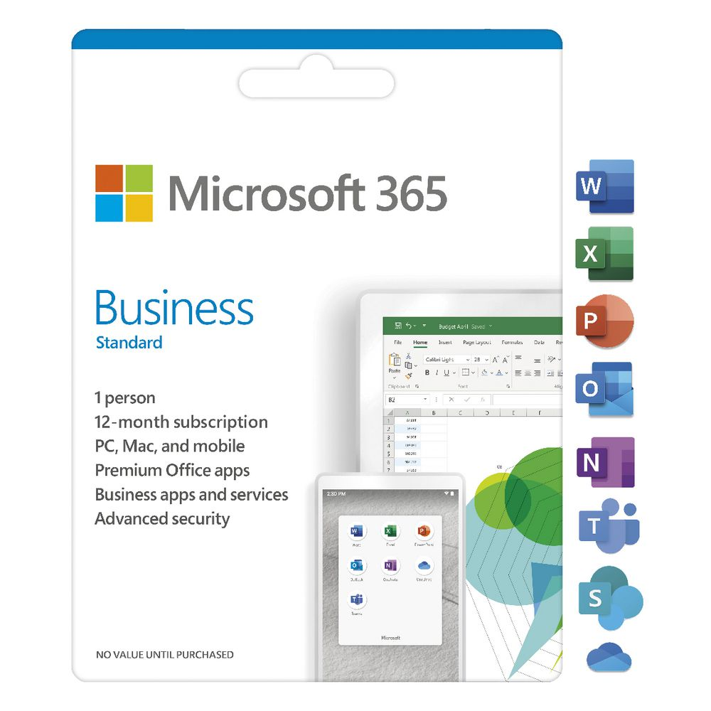 Microsoft 365 Business Standard Office 1 Year license