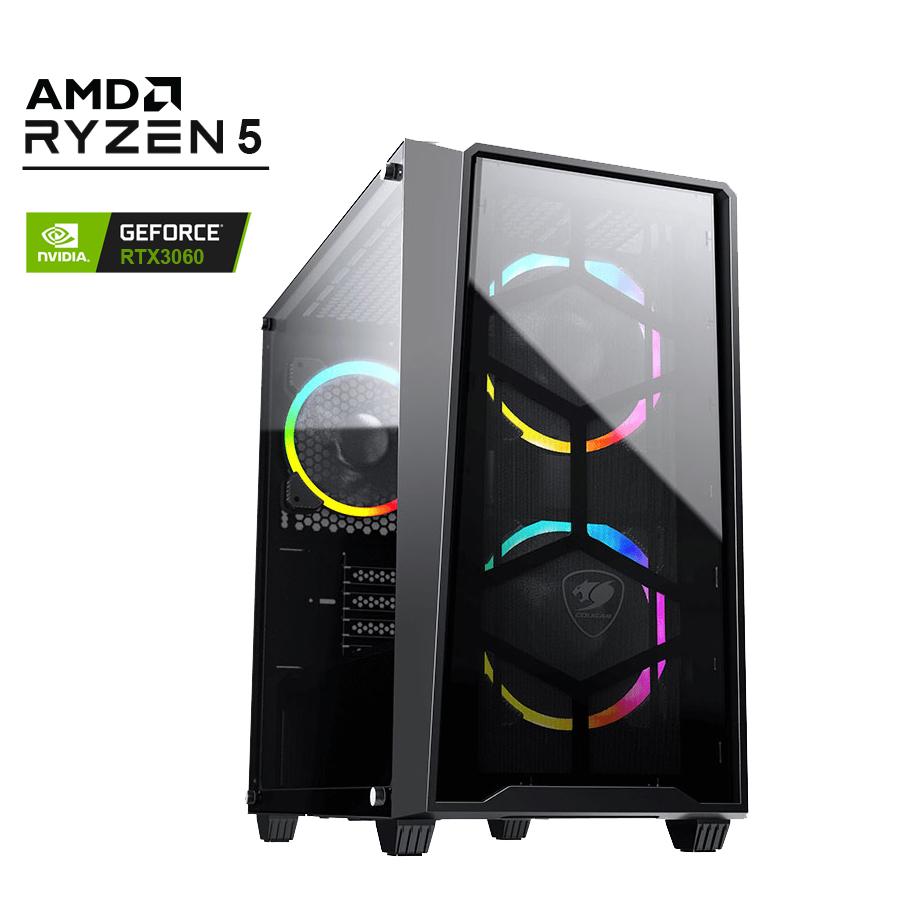 AMD Atomic Gaming PC Ryzen 5 5600X RTX3060 1TB SSD 16G