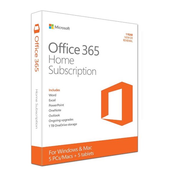 6GQ-00752 MICROSOFT OFFICE 365 HOME (5 Device, 1YR)
