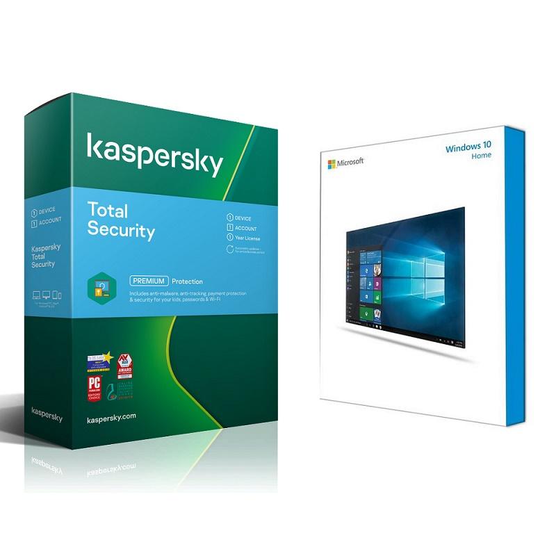 Bundle Microsoft W10 Home + Kaspersky Total Security 1D 1Y