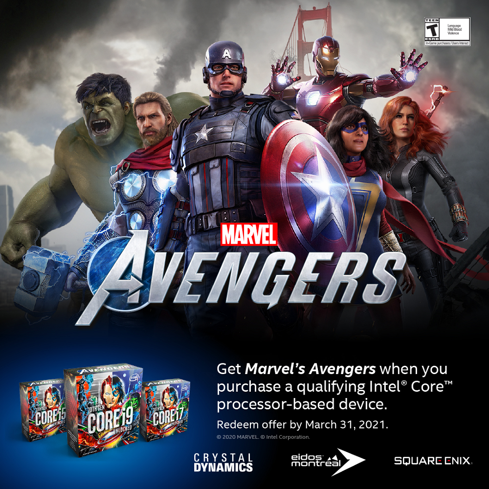 Intel Marvel Avengers Redeem code * Only with i5/i7/i9 CPU*