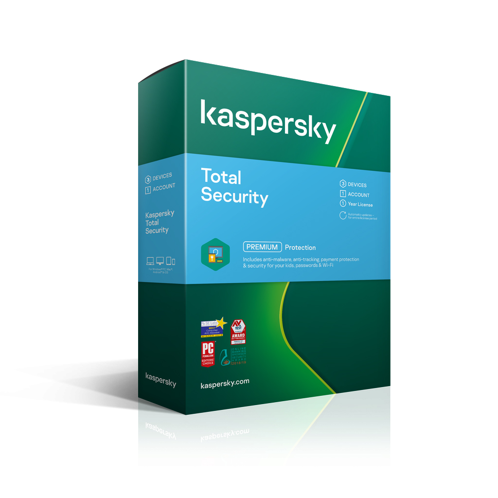 Kaspersky Total Security 2021 3 Devices 1 Year Email Key