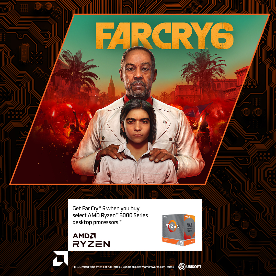 Free Far Cry 6 with selected Ryzen 7/9 CPU purchase