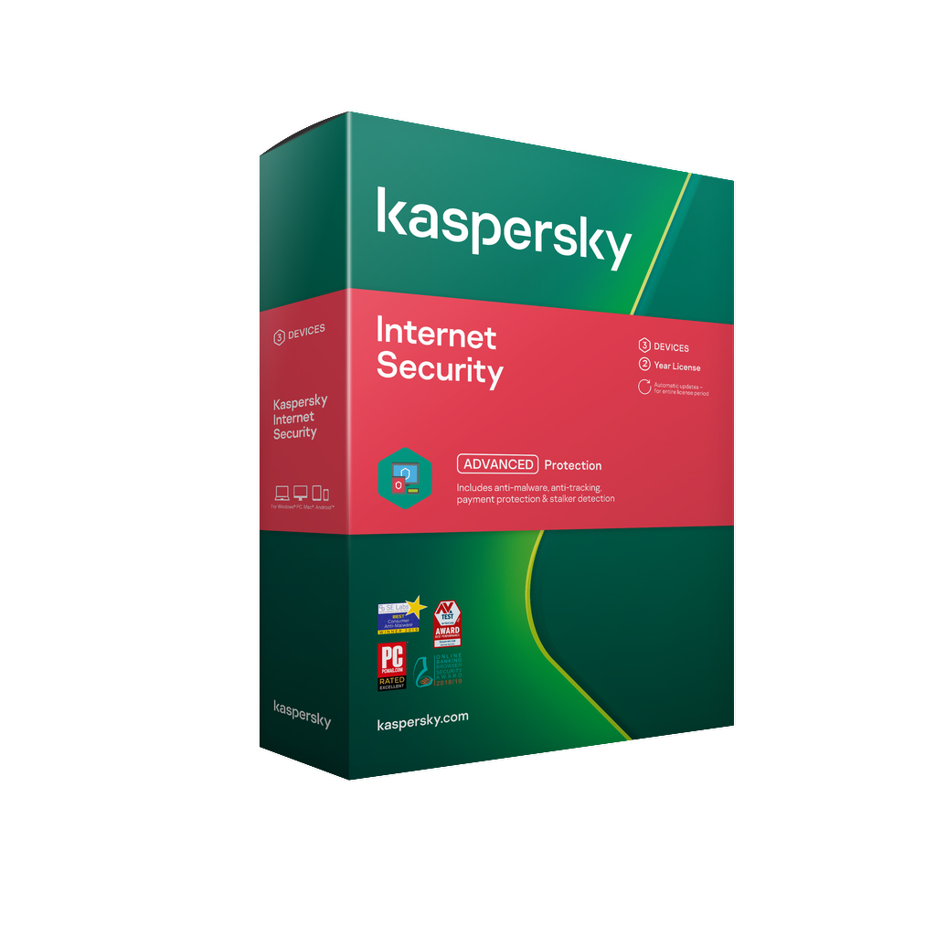 Kaspersky Internet Security 2021 3 Devices 2 Yrs Win/Mac/And