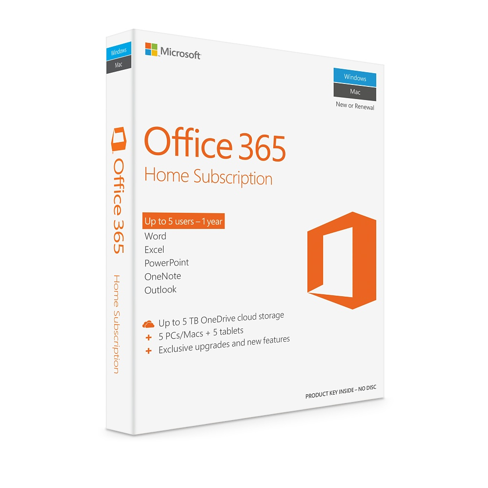 * KEY ONLY EMAIL * MICROSOFT Office 365 Home  (1YR SUB)