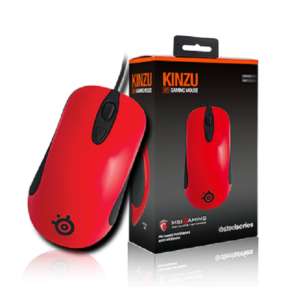 SteelSeries KinzuV3 MSI Gaming Mouse Red