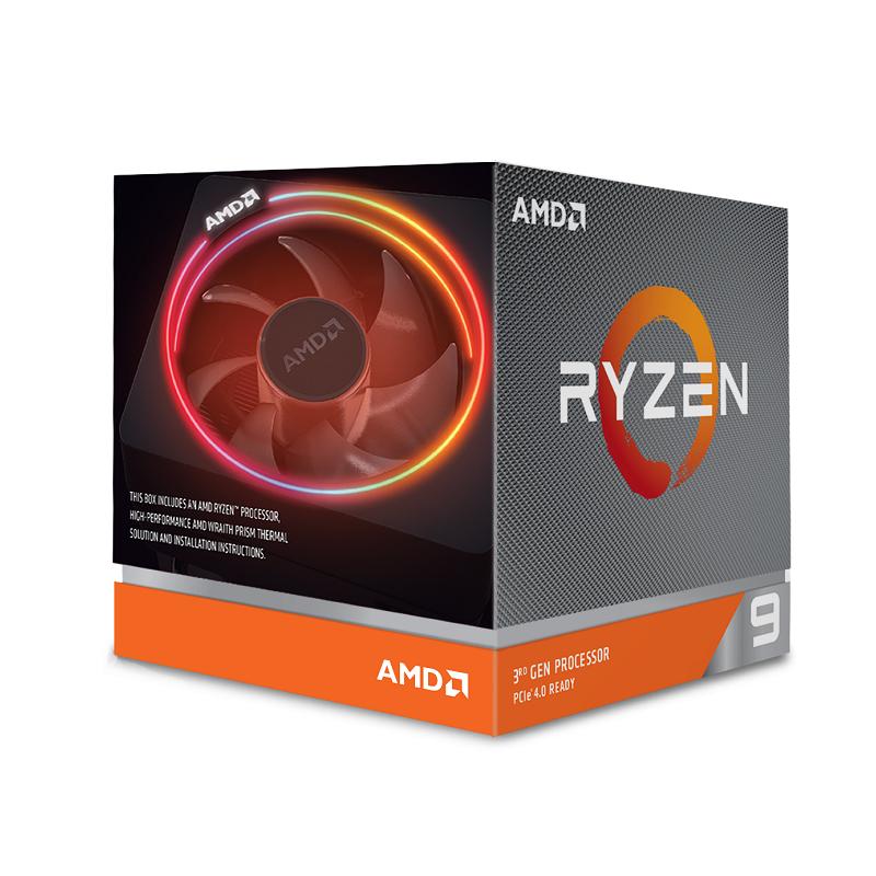 AMD Ryzen 9 3900X 12 Core 3.8 Ghz AM4 CPU Wraith Prism RGB