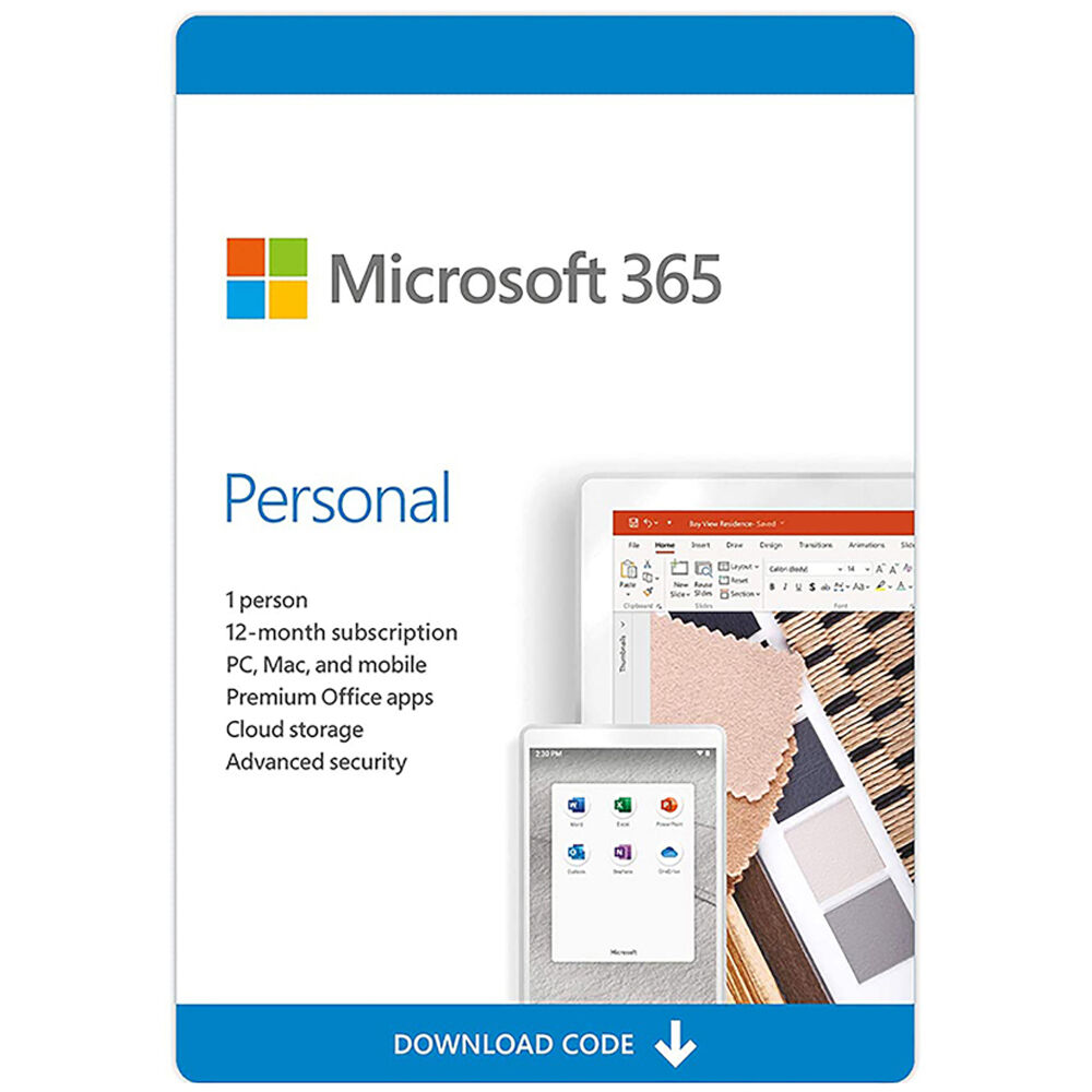 Microsoft 365 Personal Office 1 User 1 Year licence Email